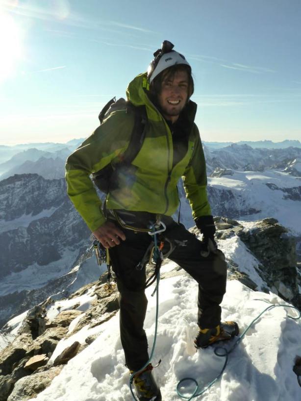 Me on the summit. © Tom Grant