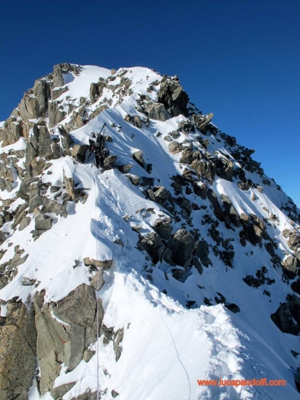 Me on the summit ridge © Luca Pandolfi