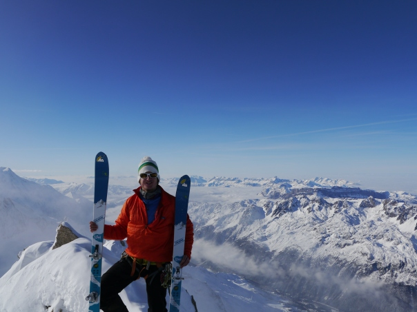 Tom on top of the Chardonnet.