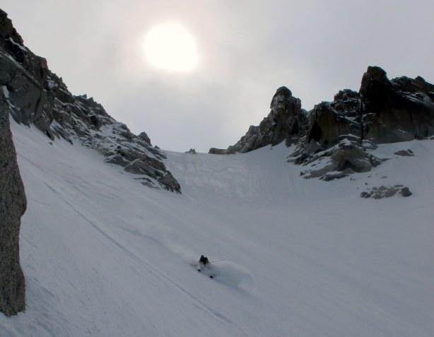 Me on the hanging snow field. © Luca Pandolfi