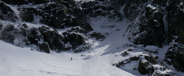 luca charging down the exit cone. © Ben Briggs