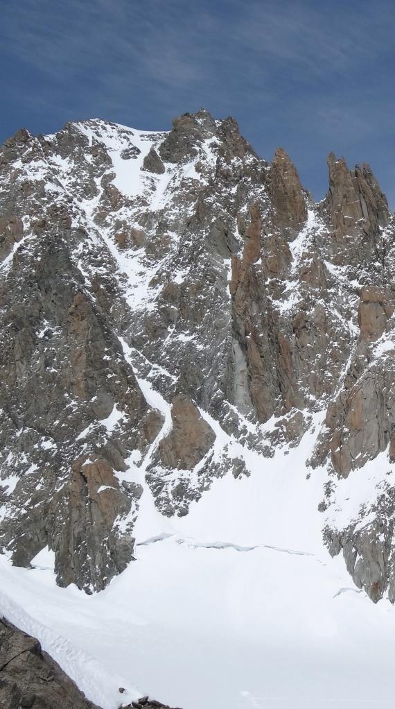 Mont Blanc du Tacul South face.