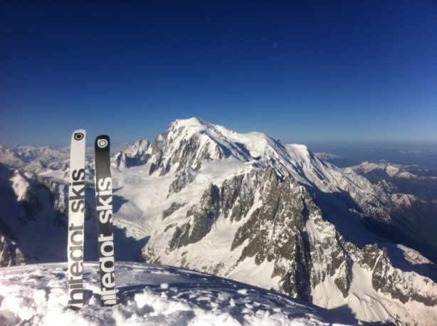 View of Mont Blanc from the summit. Ben Briggs