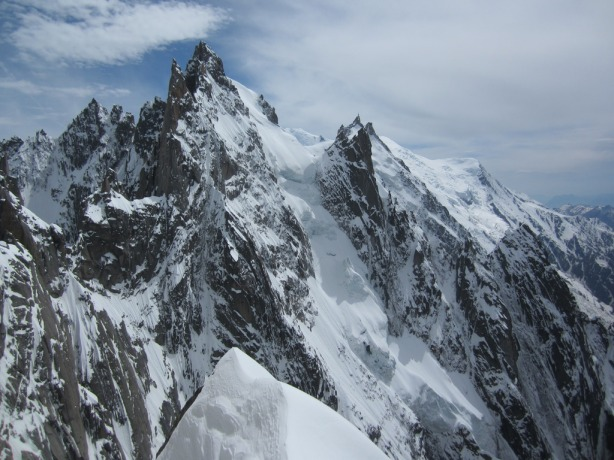 Looking back at the Aiguille du Plan from the top. © Mikko Heimonen