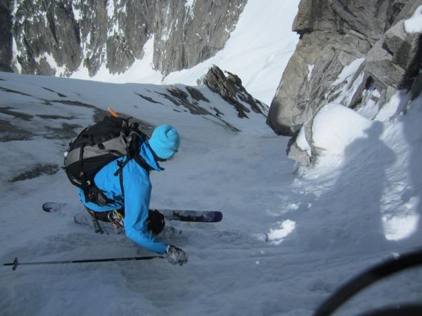 Ben passing the narrow section. © Mikko Heimonen