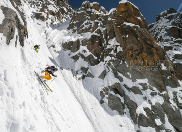 Jesper and Mikko skiing. Ben Tibbits