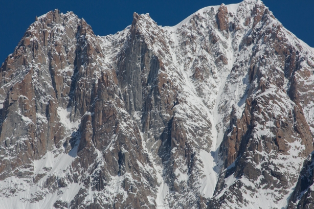 The Y couloir, can you spot us in the photo? Cedric Bernardini