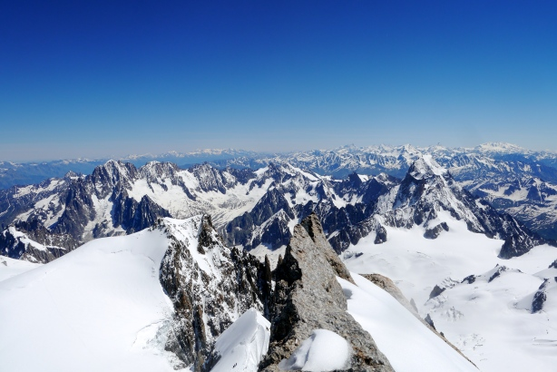 The view from the top of Mont Maudit. © Ben Briggs