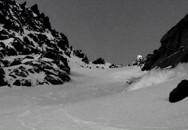 Glacier Ronde exit couloir;