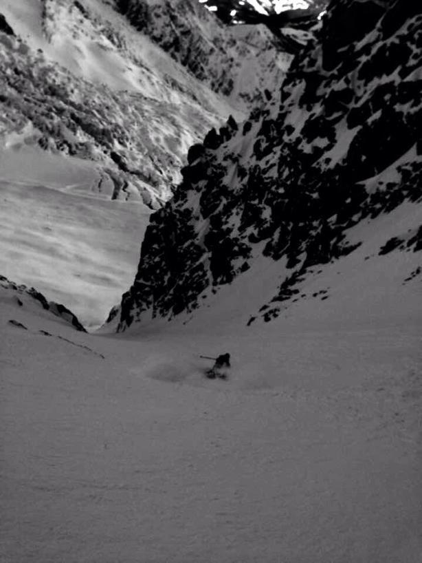 Glacier Ronde exit couloir.