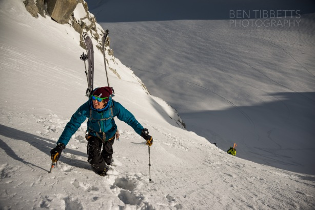 On the way up the Tour Ronde Normal route. © Ben Tibbits